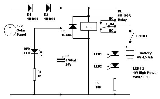 l u00e2mpada solar com bateria - esquemas - tv -  u00c1udio