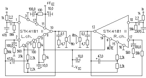 stk4181ii circuitos integrados para  u00e1udio  utiliza u00e7 u00e3o