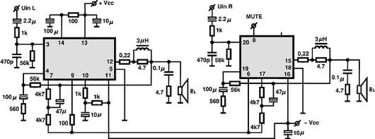 stk4221ii circuitos integrados para  u00e1udio  utiliza u00e7 u00e3o