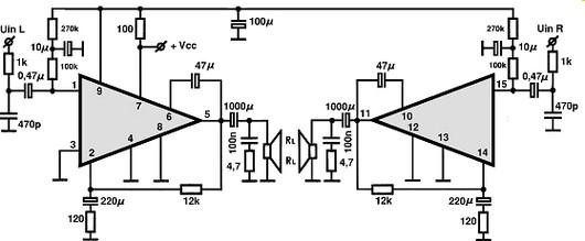 stk4362 circuitos integrados para  u00e1udio  utiliza u00e7 u00e3o