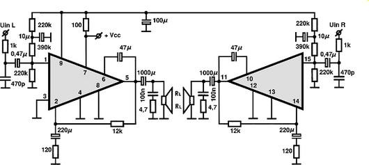 stk439 circuitos integrados para  u00e1udio  utiliza u00e7 u00e3o