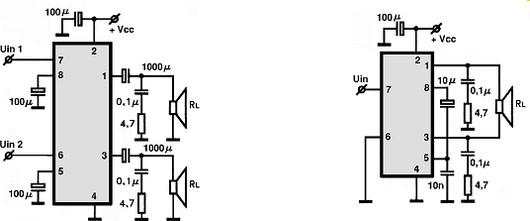 tda2822 circuitos integrados para  u00e1udio  utiliza u00e7 u00e3o