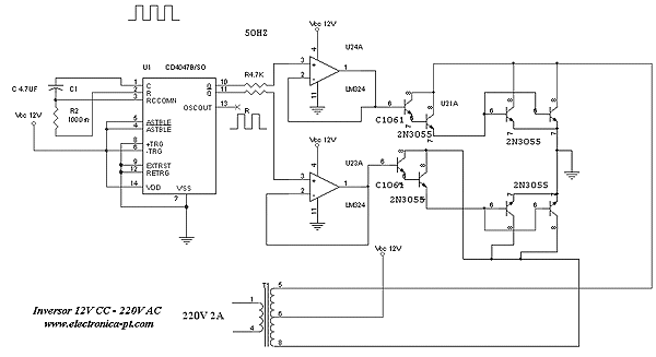 500 W inverter electrical diagram