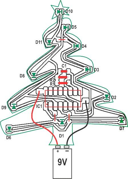 árvore de natal com leds