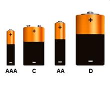tamanho baterias