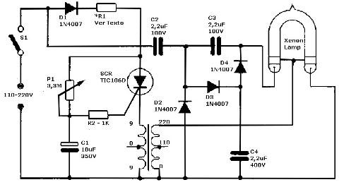 circuito eletronico estroboscopio xenon 220 110