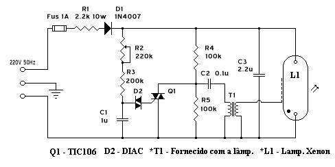 circuito eletronico estroboscopio xenon