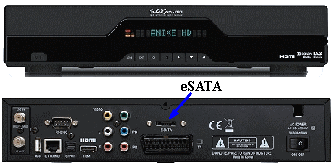 Receptor Satélite com eSATA