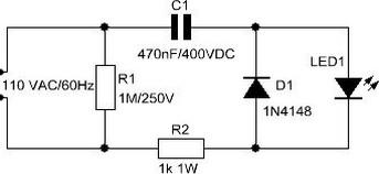 ligação led 110v ac