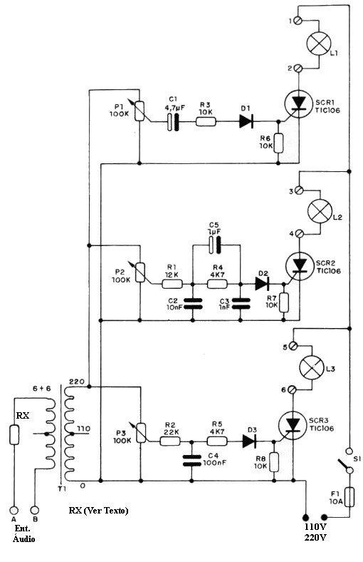 luzes psicadélicas 220V