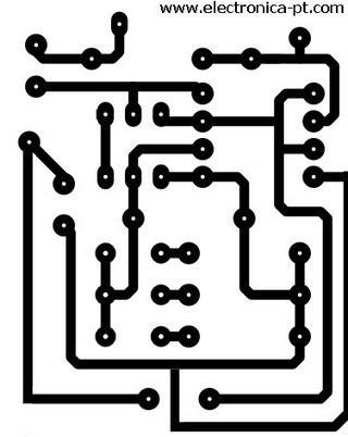 desenho placa de circuito impresso