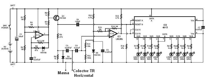 esquema electrónico testador flyback