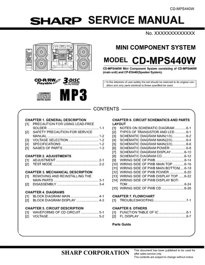 SHARP CD-MPS440W
