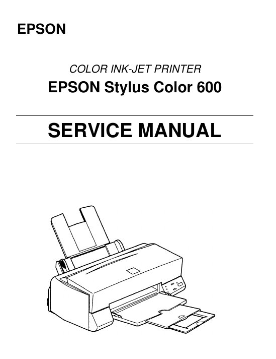 Epson Stylus Color 600 Service Manual