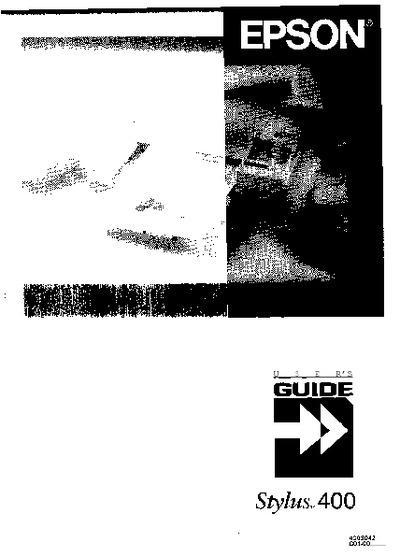 Epson Stylus 400 User U0026 39 S Guide  Service Manual  Repair