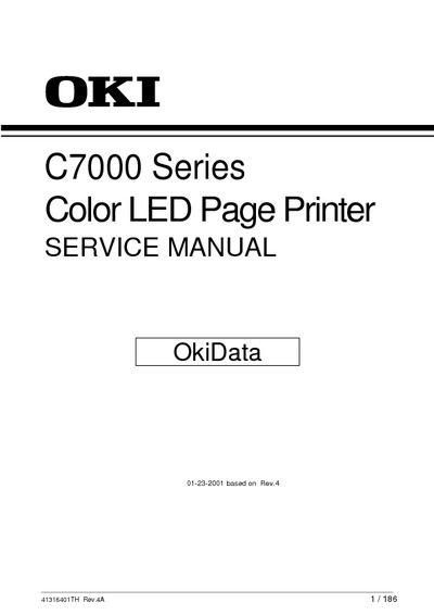 Okidata 7000 Series Service Manual