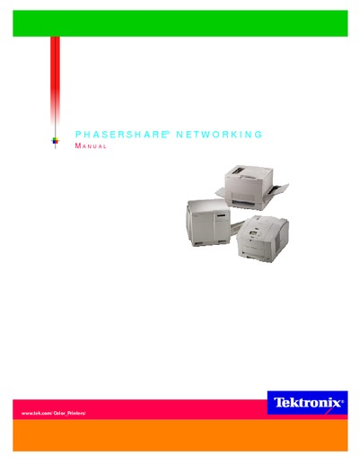 Tektronix PhaserShare Networking Manual