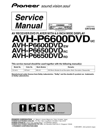 th_16828 pioneer avh p6600dvd, avh p6650dvd, service manual, repair schematics pioneer avh p6500dvd wiring diagram at reclaimingppi.co