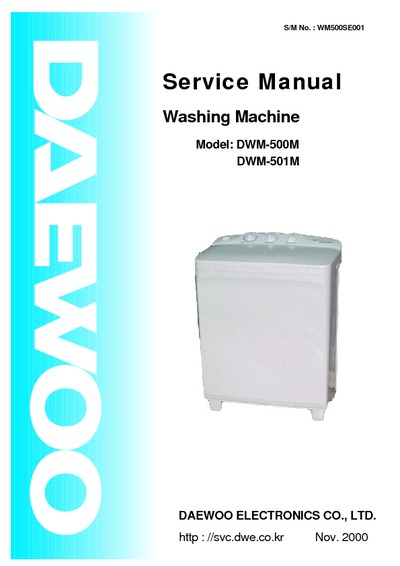 Daewoo Dwm500 501 Dw