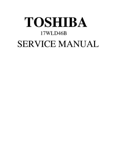 Toshiba 17wld46b Lcd Tv