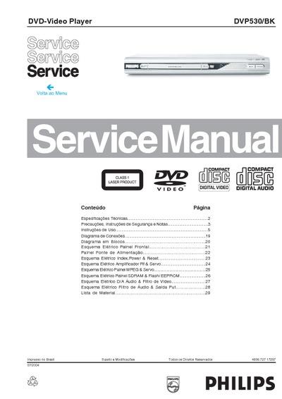 Philips Dvd Video Player Dvp530  Service Manual  Repair