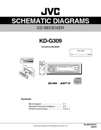 th_19208 auto radio jvc kd g309, service manual, repair schematics jvc kd-r401 wiring diagram at soozxer.org