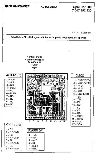 blaupunkt opel car 300 service manual repair schematics rh electronica pt com  blaupunkt car 300 circuit diagram