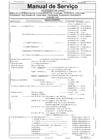 Toshiba Chassis U18  Service Manual  Repair Schematics