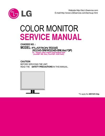 lg ws2234 service manual repair schematics. Black Bedroom Furniture Sets. Home Design Ideas