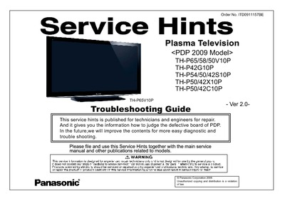 Panasonic TH-P58V10P