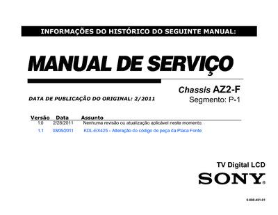 Sony Tv Repair >> sony KDL-32EX425, Service Manual, Repair Schematics