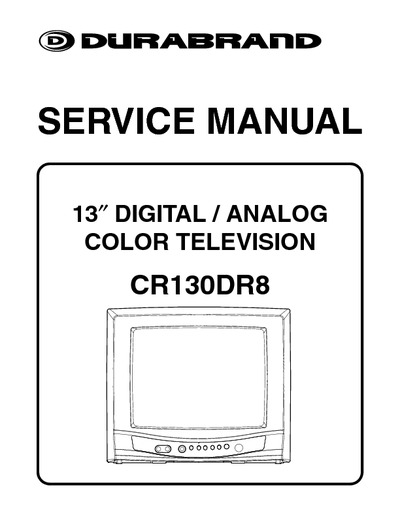 durabrand cr130dr8  service manual  repair schematics