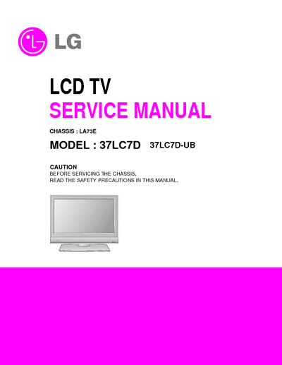 lg 37lc7d ch la73e  service manual  repair schematics