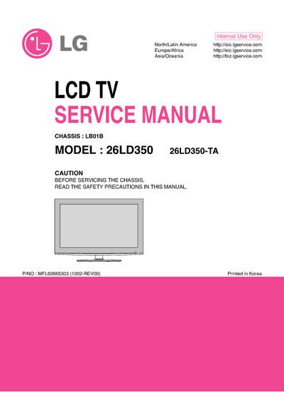 lg 26ld350 chassis lb01b service manual repair schematics. Black Bedroom Furniture Sets. Home Design Ideas