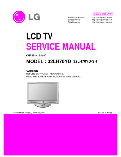 lg 32lh70yd sh chassis lj91d service manual repair. Black Bedroom Furniture Sets. Home Design Ideas