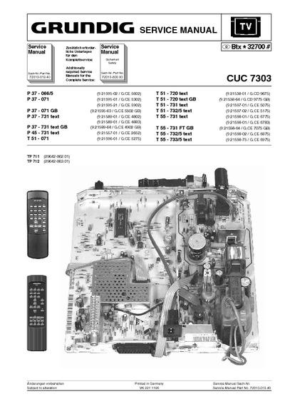 Grundig Cuc7303  Service Manual  Repair Schematics