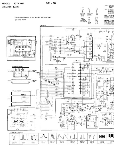 citizen jctv3047 chasis k50s  service manual  repair schematics