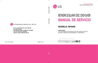 Lg Bp440k Service Manual Repair Schematics