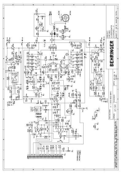 behringer ep4000  service manual  repair schematics