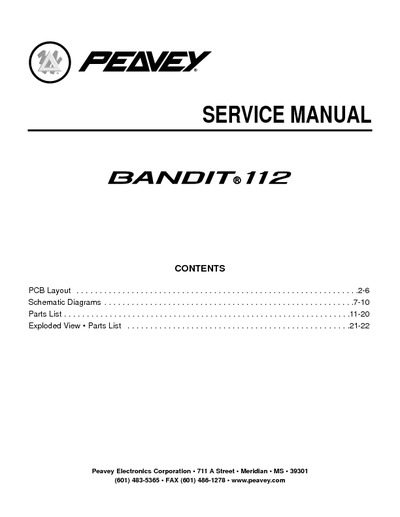 Peavey Bandit Footswitch Wiring Diagram    Wiring Diagram