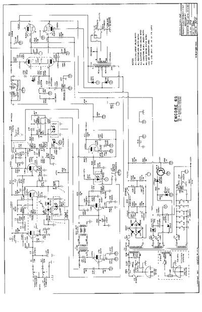 Peavey Encore 65, Service Manual, Repair Schematics