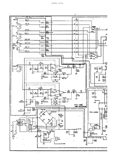 aiko amplificador pa3000  service manual  repair schematics