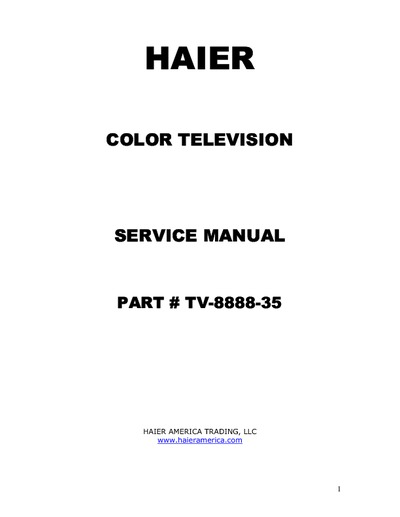 haier 46ep14s  service manual  repair schematics