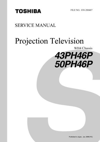 Toshiba 43ph46p  50ph46p Chassis Wh4  Service Manual