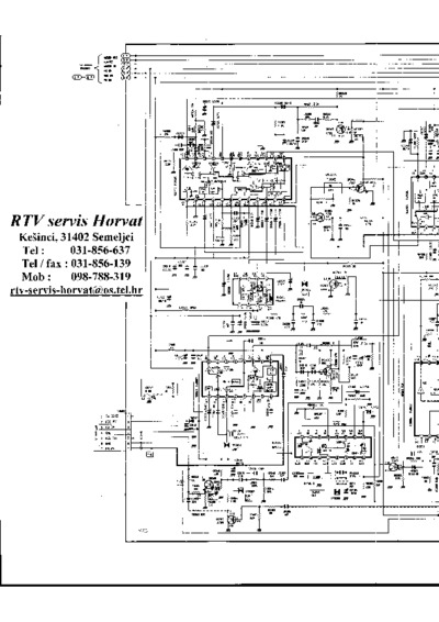 gorenje vb729ctv  service manual  repair schematics