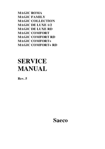 saeco coffee machine service