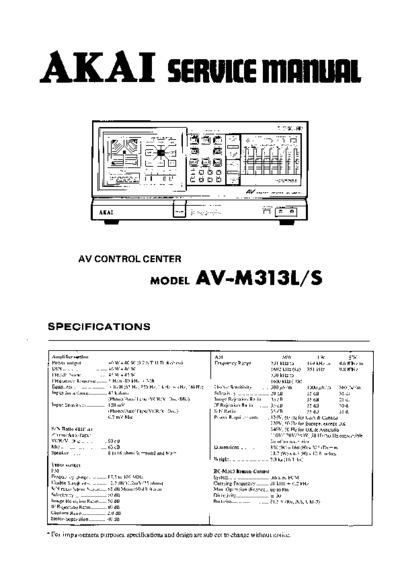 Akai Av S  Service Manual  Repair Schematics