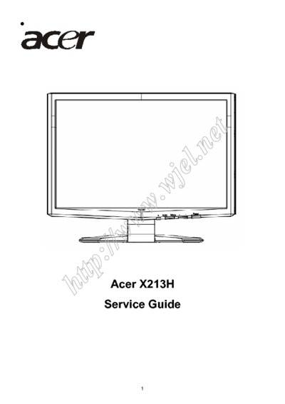 Acer  Monitor X213H