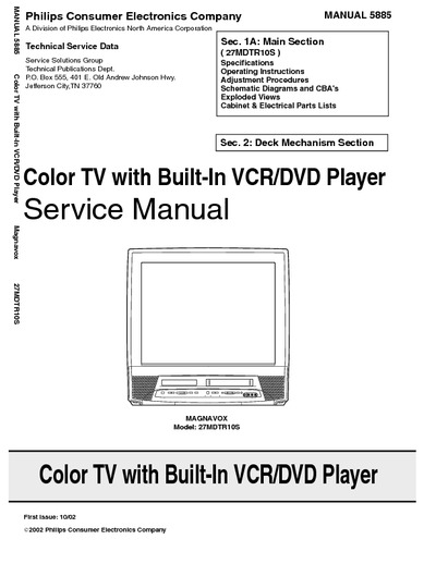 Magnavox Color Tv Service Manual on