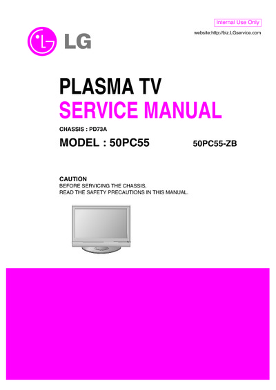lg 50pc55 ua chassis pd73a service manual repair schematics. Black Bedroom Furniture Sets. Home Design Ideas
